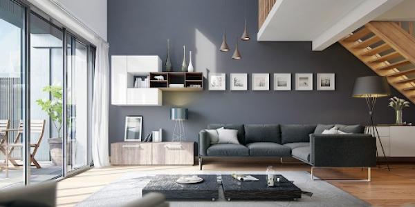 Mẫu sơn nội thất màu ghi đẹp